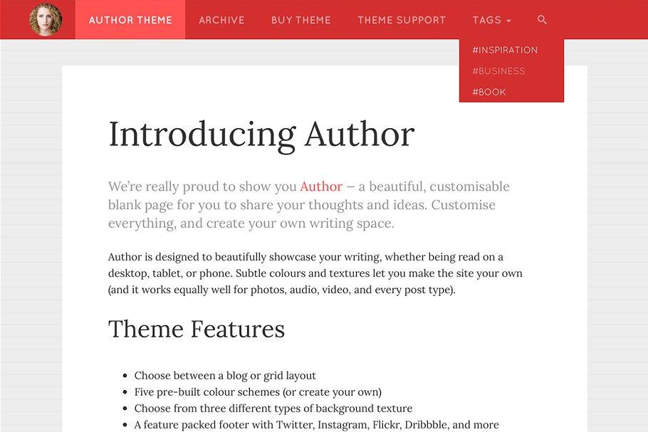 Author Tumblr Theme ~ Tumblr Themes ~ Creative Market