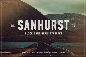 Sanhurst Sans Serif - 8 Font Family