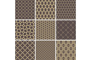Set of Vector Seamless Geometric Backgrounds