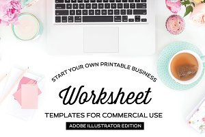 Worksheet Templates for Illustrator