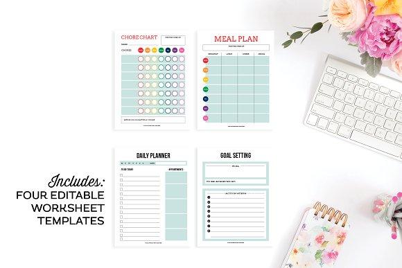 worksheet templates for illustrator templates creative market