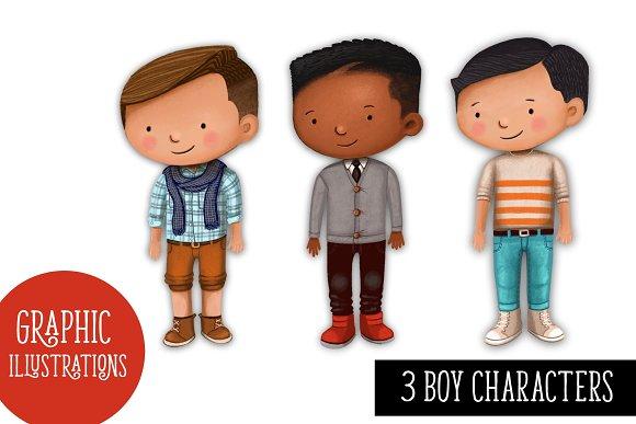 3 Boy Characters