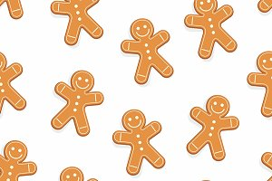 gingerbread man seamless pattern