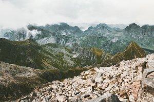 Mountains range Landscape aerial