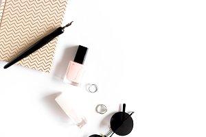 Feminine white desk