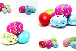 Collage perfect Easter eggs.