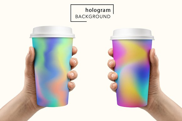 48 Holographic Gradient Patterns Set in Textures - product preview 1
