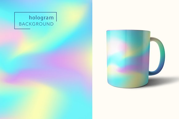 48 Holographic Gradient Patterns Set in Textures - product preview 2