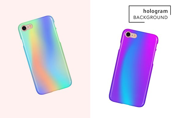 48 Holographic Gradient Patterns Set in Textures - product preview 3