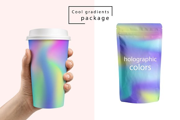48 Holographic Gradient Patterns Set in Textures - product preview 4