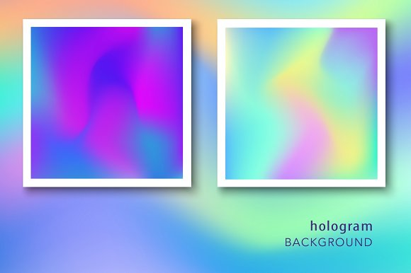 48 Holographic Gradient Patterns Set in Textures - product preview 5