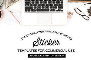 Sticker Templates for Illustrator