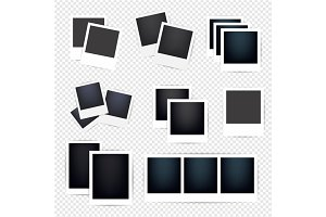 Blank Photo frames collection