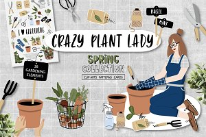 Crazy Plant Lady - gardening set
