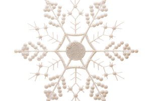 White Snowflake Isolated on White