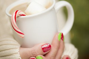 Woman, Holiday Nail Polish, Cocoa