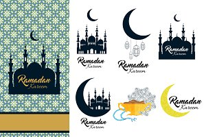 Ramadan Kareem Design Elements Set