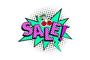 Sale cartoon icon