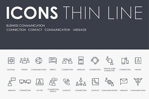 Business communication icons