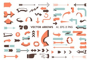 Vector Arrows Set - Retro and Modern