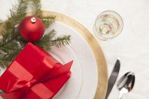 Christmas Gift with Table Setting