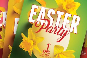 Easter / Spring Party A5 Flyer