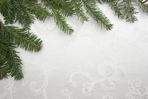 White Silk Christmas Background