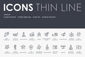 Startup thinline icons