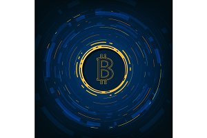 Bitcoin digital currency background