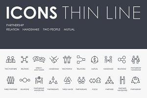 Partnership thinline icons