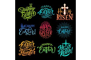 Vector set Happy Easter