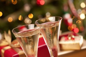 Sparkling Champagne Flutes and Gifts