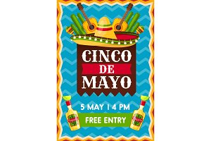Banner for Cinco de Mayo party