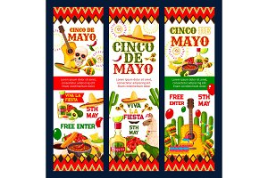 Cinco de Mayo mexican fiesta party invitation card