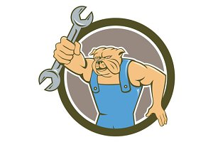 Bulldog Mechanic Holding Spanner Cir