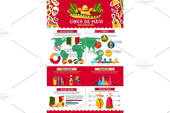 Chico De Mayo Infigraphic Vector