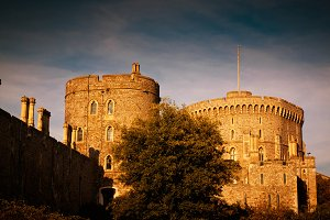 Windsor Castle by dusk