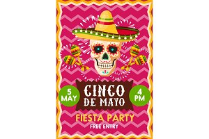 Poster for Cinco party