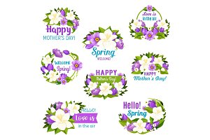 Spring season and Mother Day holiday flower icon