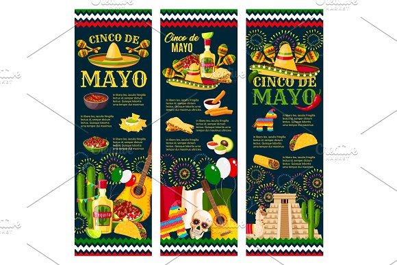 Cinco De Mayo Mexican Festival Greeting Banner