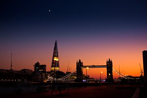 Telephoto of London by dusk