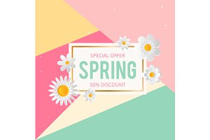 Spring sale modern background
