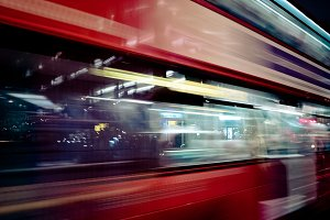 London bus motion blur