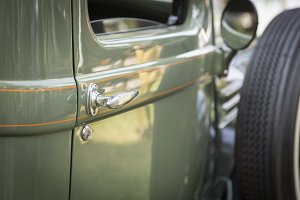 Abstract of Beautiful Vintage Car