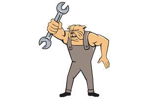 Bulldog Mechanic Spanner Standing Ca