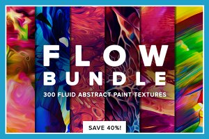 Flow Bundle—300 fluid paint textures