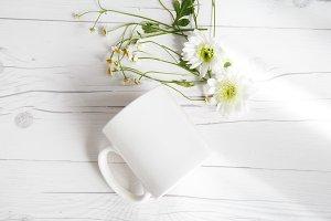 White Mug Mockup Spring