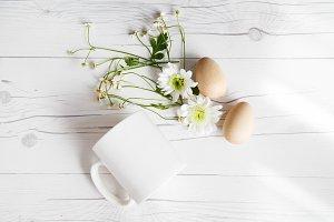 White Mug Mockup Easter