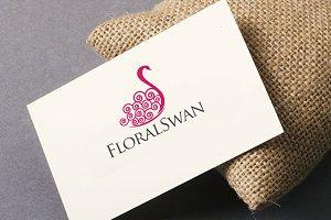 Floral Swan Logo