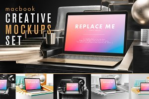 Macbook Creative Mockups Set